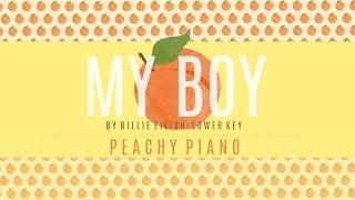 My Boy - Billie Eilish (Lower Key) | Piano Backing Track