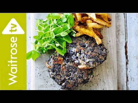 Black Bean Burgers With Celeriac Chips   Waitrose