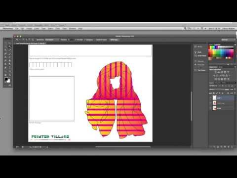 Add Your Design To The Scarf Template In Adobe Photoshop