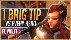 1 BRIGITTE TIP vs EVERY HERO ft. Violet (2019)