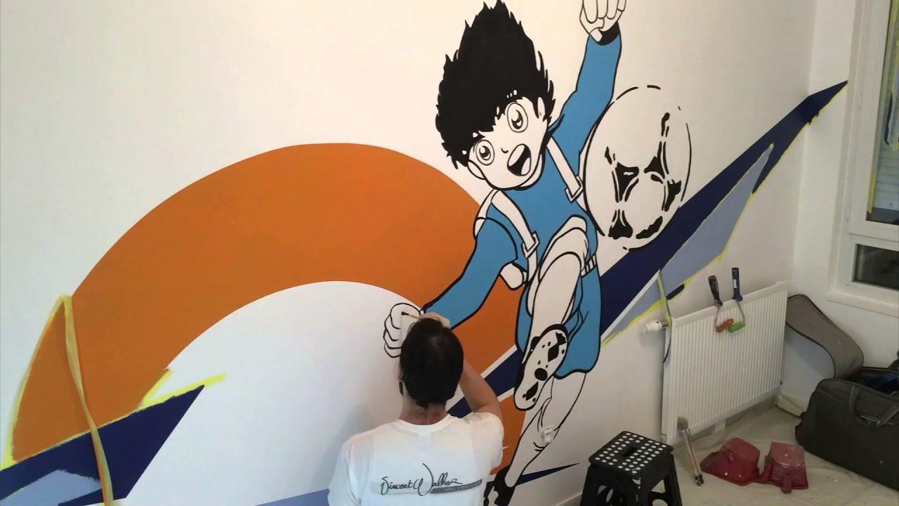 Peinture Murale Chambre D Enfant Football Olive Tom