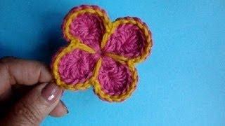 Как связать крючком цветок Урок  35 How to crochet flower