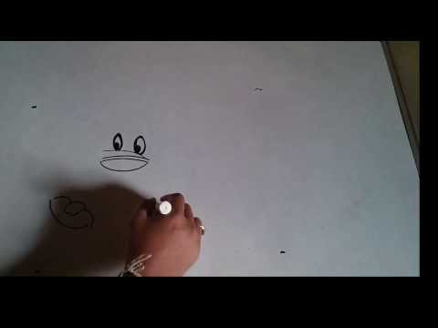 Hairy Duck Hand Art Timelapse