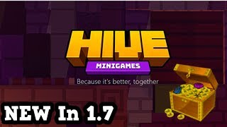 Playing The Newest Minecraft Server - HIVE MC PE (1.7)
