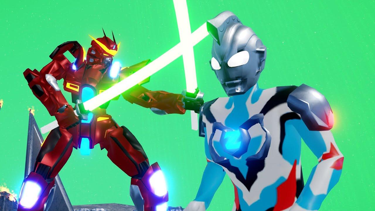 Upin Ipin Ultraman Balapan Luar Angkasa dengan Gundam