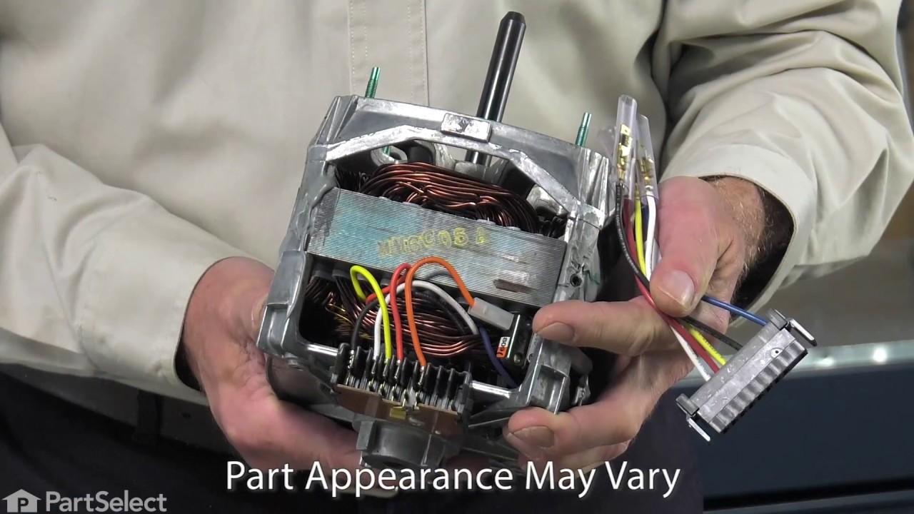 washing machine repair replacing the drive motor whirlpool part 12002351  [ 1280 x 720 Pixel ]