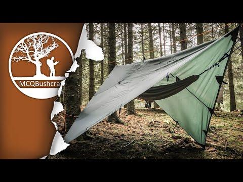 Bushcraft Shelters: Hammock & Tarp Setup
