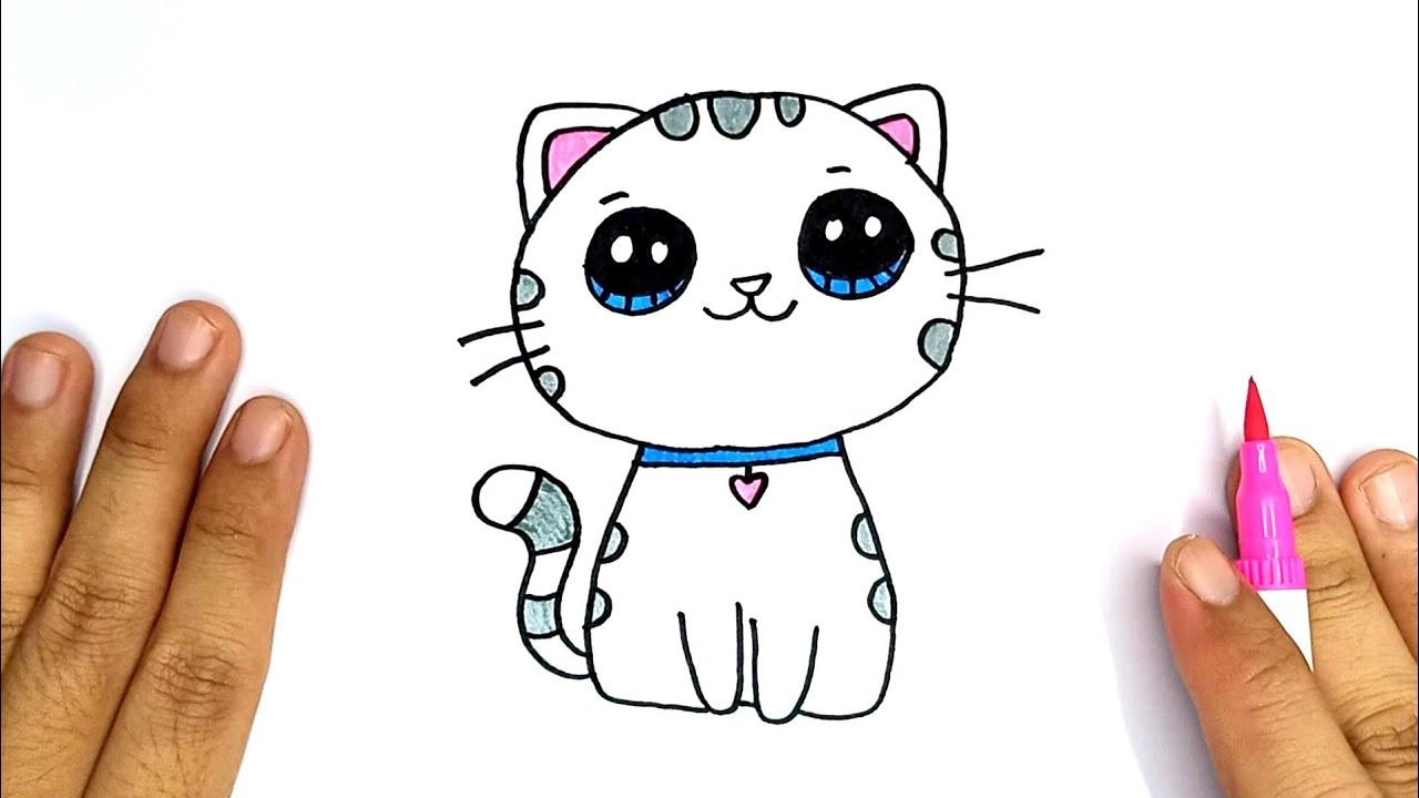 Download Cara Menggambar Kucing lucu   How To Draw Cat Cute