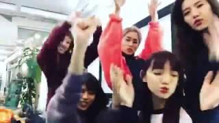 Flowerの佐藤晴美と中島美央 Happinessの川本璃とYURINOと須田アンナ♡EX...