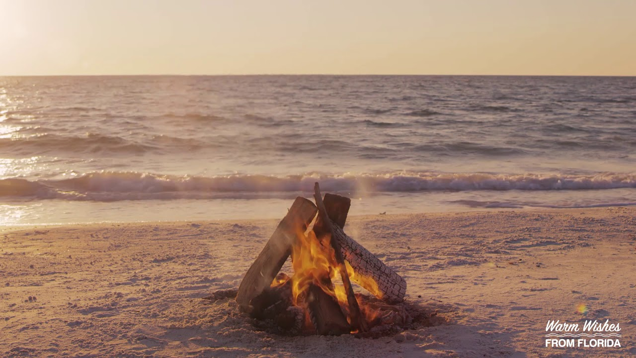 Yule Log On The Beach In Florida Youtube