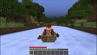 Minecraft Custom Map Showcase - Ice-Boat racetrack: Forest