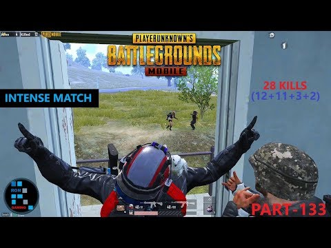 "PUBG MOBILE | ""28 KILLS"" WITH SQUAD INTENSE MATCH FUN GAMEPLAY"