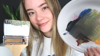 ASMR PAINTING YOUR FACE FOR SLEEP! Brushing Sounds, Hand Mov...
