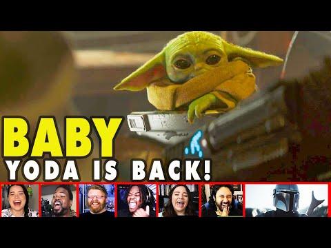 Reactors Reaction To Baby Yoda Adorable Return In The Mandalorian Season 2 Trailer | Mixed Reactions