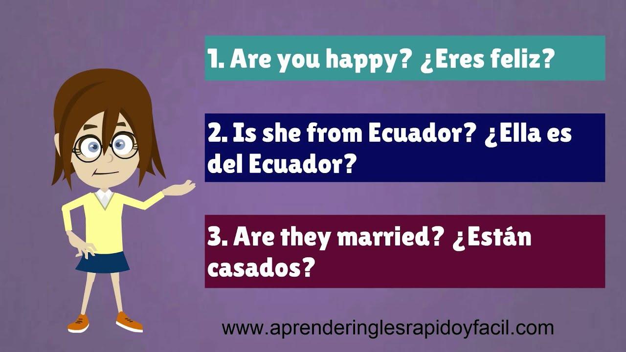 preguntas con el verbo to be  yes    no  questions verb to be  respuestas en ingl u00e9s