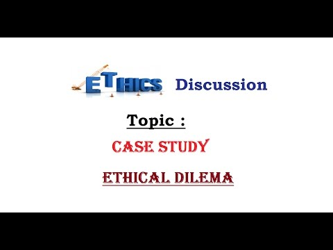 Ethics Case Study for IAS (Ethical Dilema) , L- C/5