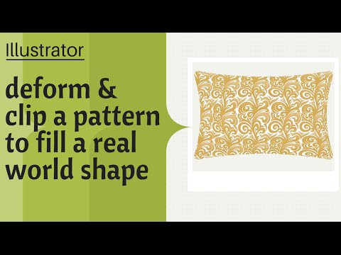 Illustrator - Apply a Pattern to a Real World Object - Working with Repeating Patterns
