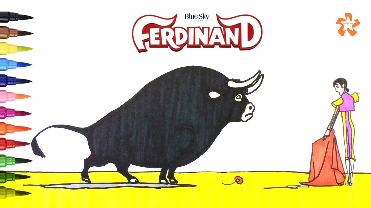 Ferdinand Film How To Draw And Color Ferdinand