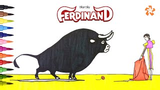 Ferdinand (film) - How to draw and color Ferdinand - Coloring Pages For Kids With Color & Kids TV