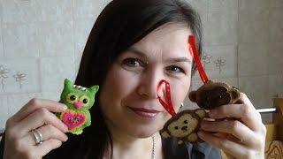 Смотреть видео Ангелы, куколки и другие игрушки из фетра. Шаблоны