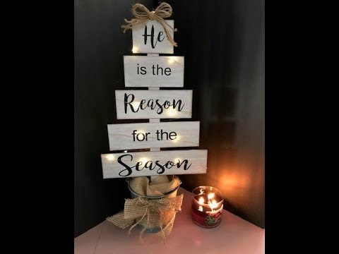 DIY Faux Wood Christmas Tree Using Supplies You Have At Home