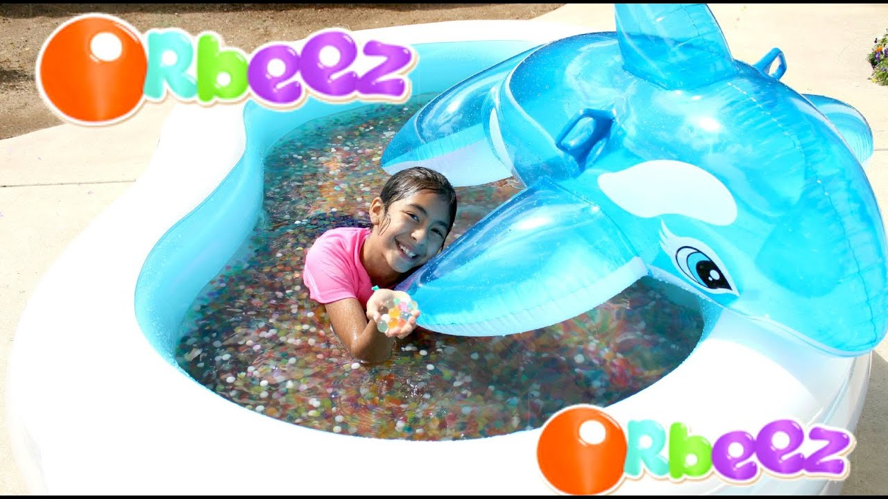 orbeez pool and dolphin summer water fun play. Black Bedroom Furniture Sets. Home Design Ideas