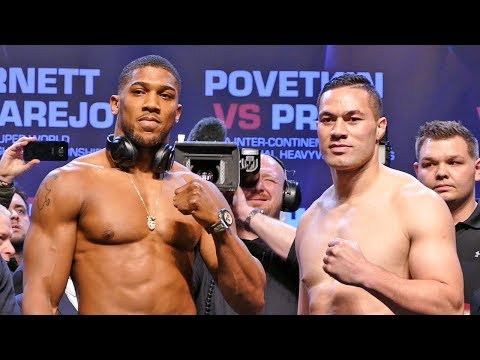 Anthony Joshua vs Joseph Parker FULL WEIGH IN & FINAL FACE OFF