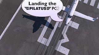 X-Plane 11 : Carenado Pilatus PC-12 : Valencia LEVC Landing