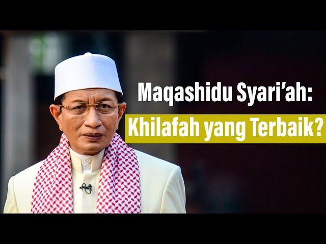 Prof. Dr. Nasaruddin Umar, MA: Benarkah Khilafah yang Terbaik?