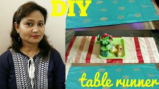 DIY,table runner,do it yourself,how to make table runner,block painting
