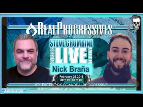 Steve Grumbine with Nick Braña of Movement for a People's Party