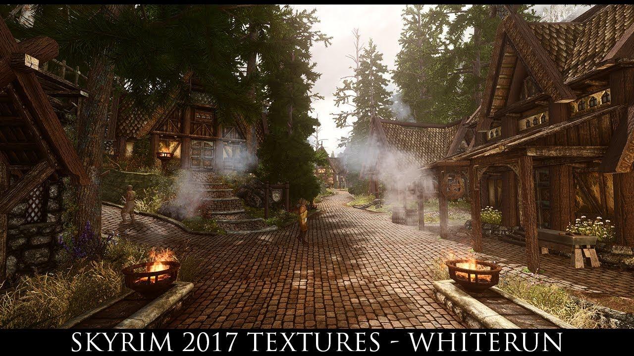 Skyrim SE Mods: Skyrim 2017 Textures - Whiterun
