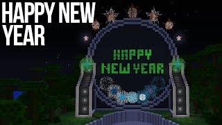 Happy New Year Minecraft Firework Display
