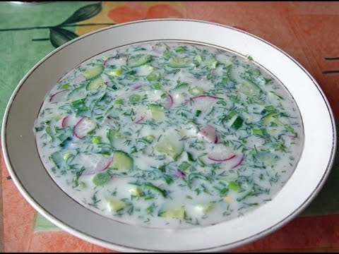 Окрошка на кефире./Okroshka On Kefir.