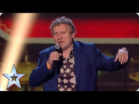 Welsh funnyman Noel James has everyone laughing out loud! | Semi-Finals | BGT 2018