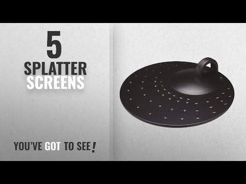 "Top 10 Splatter Screens [2018]: KitchenCraft Metal Frying Pan Splatter Guard Lid, 31 cm (12"")"