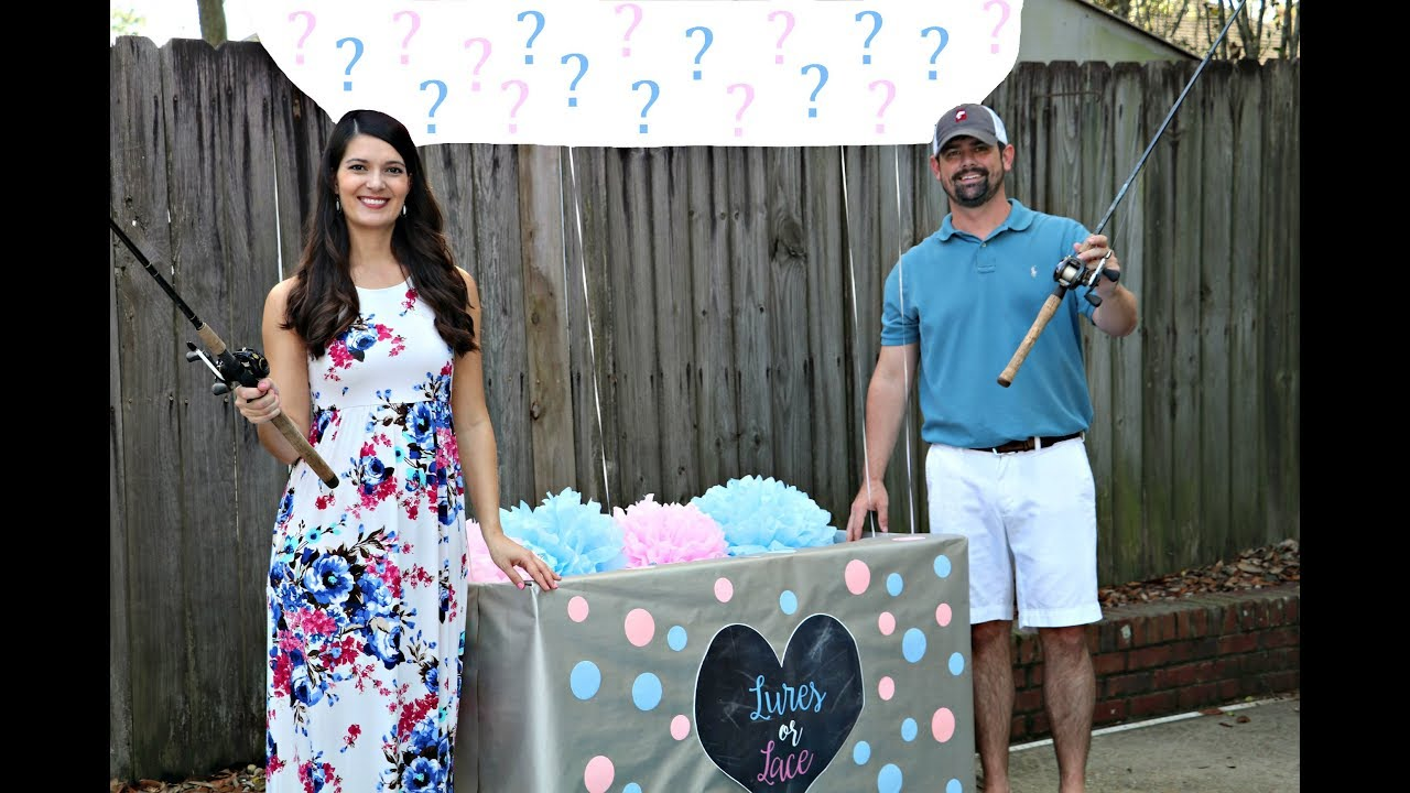 Baby gender reveal surprise youtube for Fishing gender reveal