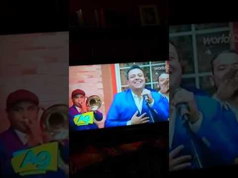 Programa de televisión A las Nueve  canal World Tv  Noel Pana  con la Orquesta Intersalsa