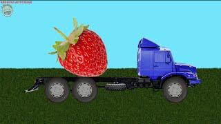 Учим ягоды с грузовичком. Развивающий мультик для маленьких