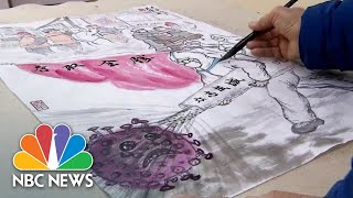 traditional-chinese-artist-chronicles-shanghai-battle-coronavirus-nbc-news