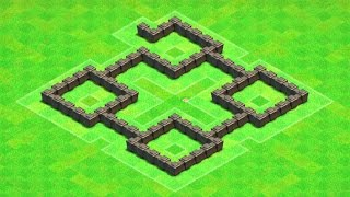 Clash of Clans - BEST Town Hall 4 Farming Base Design Layout (TH4)