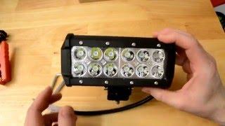 Sucool - 7inch 36W CREE 6000K LED Light Bar