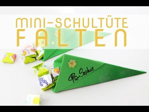 Mini Schultüte Falten Anleitung Für Eine Zuckertüte Talude