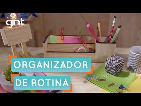 Como fazer um organizador de mesa de trabalho   Thalita Carvalho   Mais Cor, Por Favor
