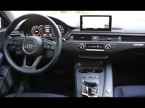 Audi A4 (w/technology package, 2017): Interior Review and Tour