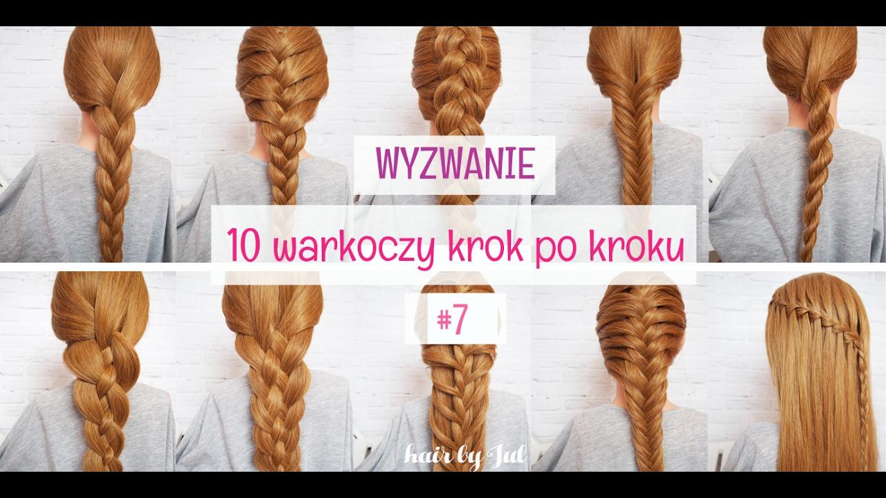 Warkocz Z 5 Części 10 Warkoczy Krok Po Kroku Hair By Jul