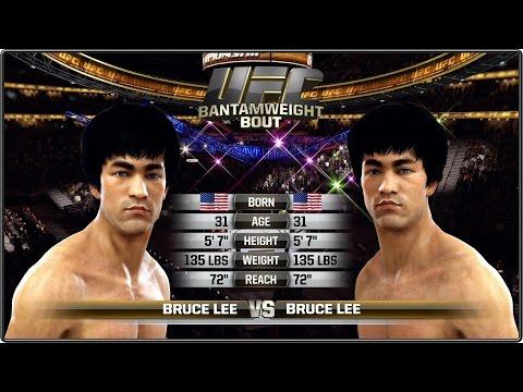 Bruce Lee vs Bruce Lee - Full Fight Mirror Match - EA Sports UFC