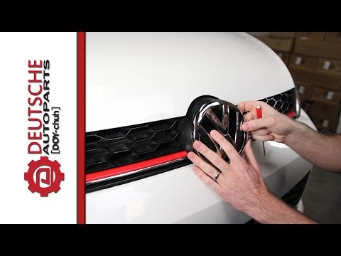 How to (DIY) Install a Black Front Logo on your MK7 Golf or GTI