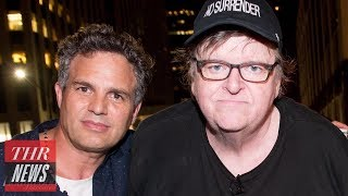 Michael Moore, Mark Ruffalo Lead Trump Tower Protest After Broadway Play | THR News