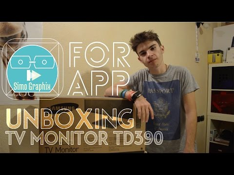 UNBOXING - MONITOR TV SAMSUNG TD390